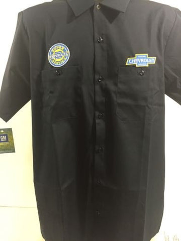 Image of Chevy Mechanic Shirt - Short Sleeve w/ Super Service Logo - Main