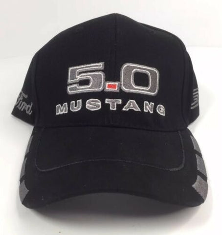 Ford Mustang Hat - Black w/ Gray 5.0 GT - Front