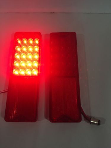 Pair 1967-1972 Chevy Fleetside Truck LED Tail Lights - Brake Light