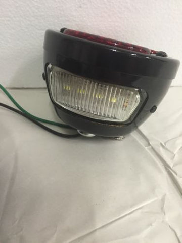 Image of Ford Model A Tail Light - Gloss Black - 1928-1931 - Bottom