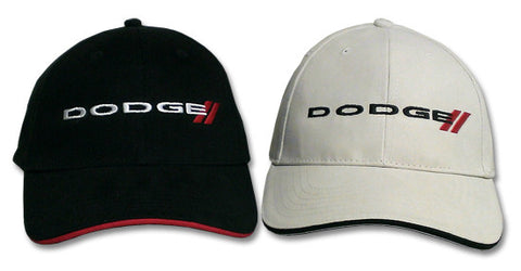 Mopar Hat - Dodge Logo / Emblem Black or White (Main)