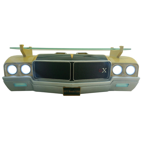 Image of 1971 Buick Skylark GSX Wall Shelf - Gold w/ Black and LED Headlights - Main