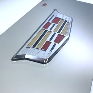 Cadillac License Plate - Chrome with Emblem (Main)
