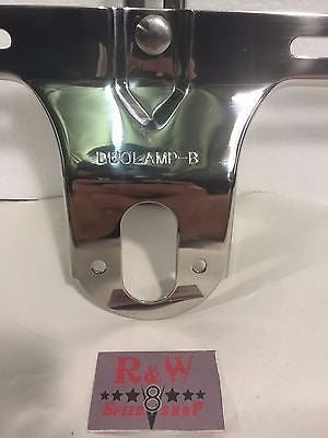 Image of 1932 Ford License Plate Bracket - Polished Stainless Steel - Bottom