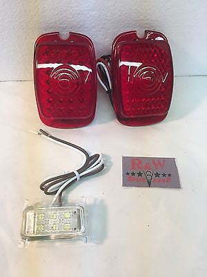 Pair of 1937-1938 Chevy Cars and 1940-1953 Chevy Truck LED Tail Light Inserts - Main