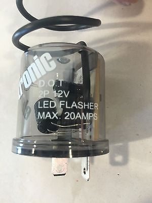 Turn Signal LED Flasher - 2 Terminal 12V - Front