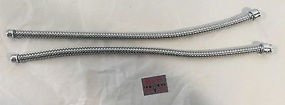 "Pair 19"" Tail Light Stainless Steel Wire Conduit Shields"