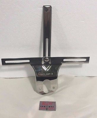 1932 Ford License Plate Bracket - Polished Stainless Steel - Main