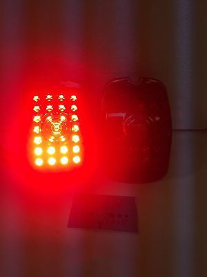 Pair of 1937-1938 Chevy Cars and 1940-1953 Chevy Truck LED Tail Light Inserts - Brake
