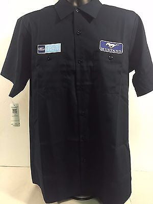 Image of Ford Mustang Mechanic Shirt - Black Button-Down - Main
