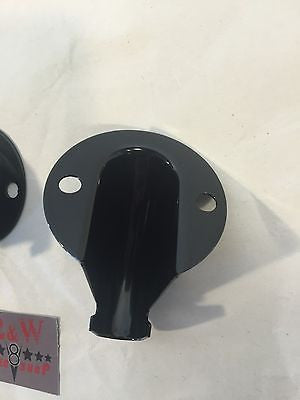 Image of Pair Ford Tail Light Wire Shields - Black Steel for 1928-1966 - Top