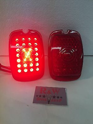 Image of Pair of 1937-1938 Chevy Cars and 1940-1953 Chevy Truck LED Tail Light Inserts - Tail light