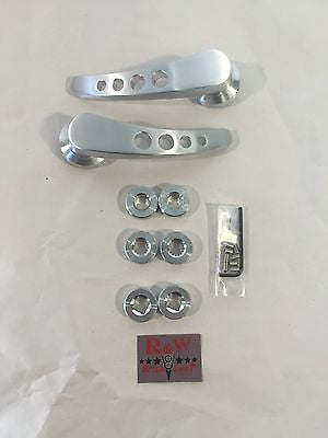 Image of Billet Door Handle Kit - Drilled Brushed Aluminum - Kit