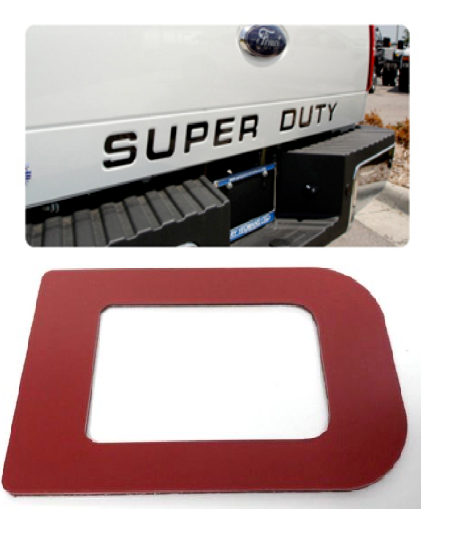 2008-2016 Ford Super Duty Tailgate Letter Inserts - Red - Main