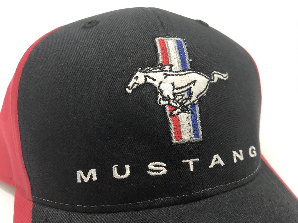 Classic Ford Mustang Hat with Tri Bar Pony Logo (Side)