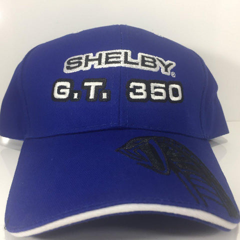 Image of Ford Mustang Hat - Shelby GT350 with Cobra on Bill (Front)