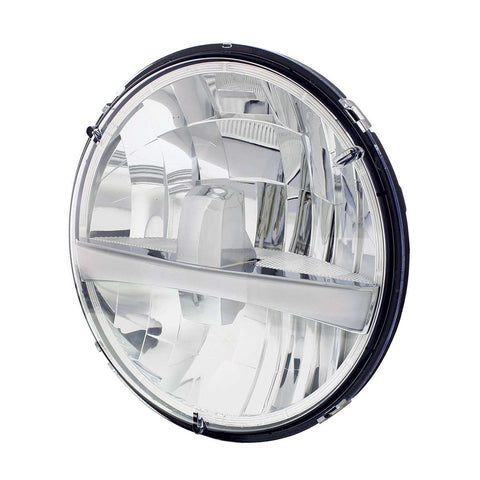 "Image of 7"" High Power LED Headlight w/ Turn Signal & White Position Light Bar"