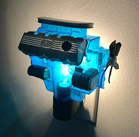 Ford Night Light - Blue w/ Gray & Black 427 SOHC Cammer Engine Replica - 1