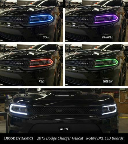 Image of Pair LED Boards for 2015-2018 Dodge Charger - Multi Color w/ Bluetooth Control