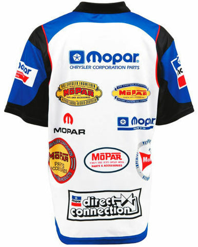 Image of Racing Pit Style Button Up Shirt w/ Embroidered Mopar Logo / Emblem - 2