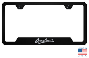 Jeep Grand Cherokee Overland License Plate Frame - Black w/ Silver - Main