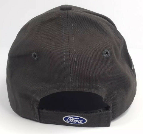 Ford Mustang Hat - Mach 1 Gray with Pony Tri Bar Logo - Back