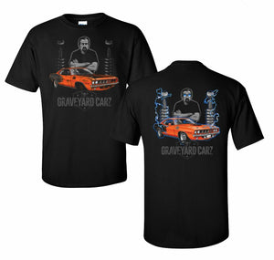 Graveyard Carz T-Shirt - Black w/ Orange 1971 Plymouth Hemi Cuda (Licensed)