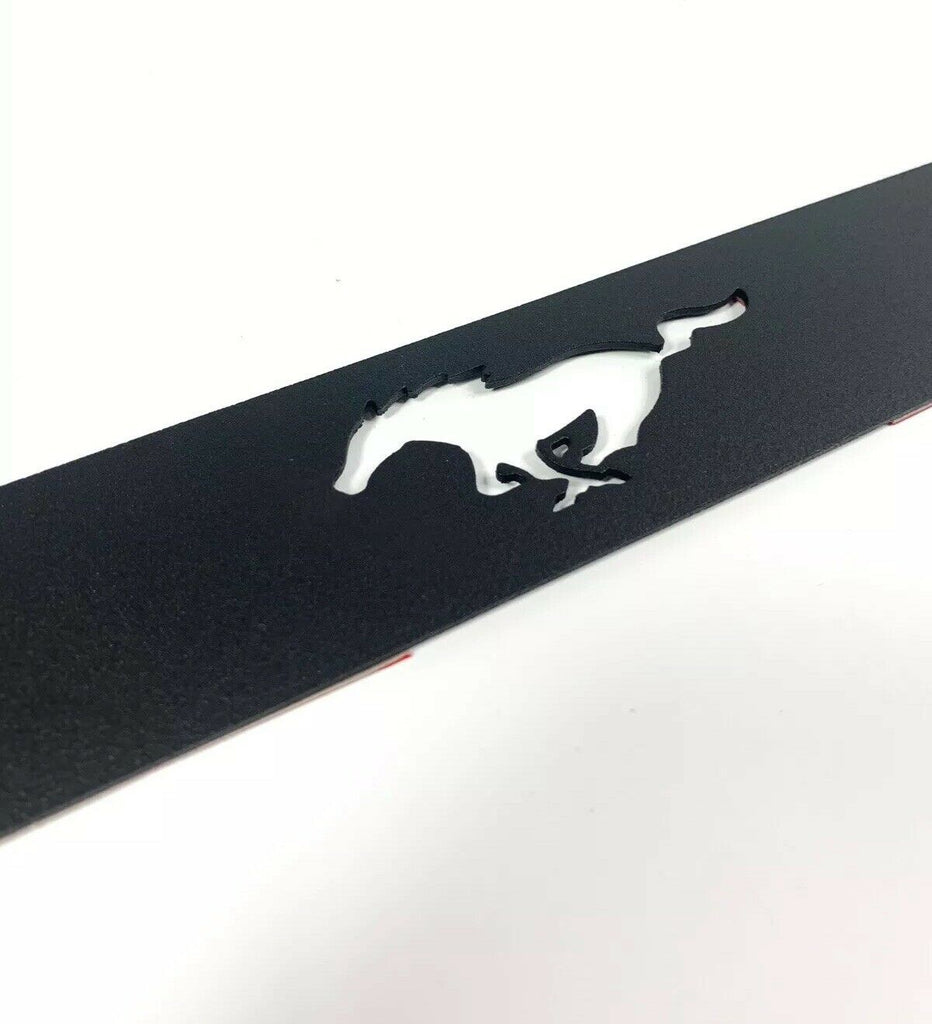 2015-2019 Ford Mustang Pony Emblem Reverse Light Black Billet Decal / Overlay - 3