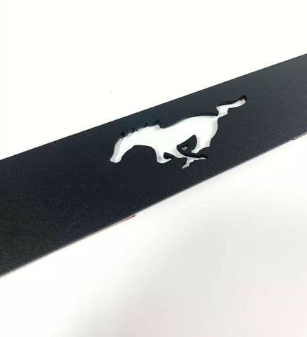 Image of 2015-2019 Ford Mustang Pony Emblem Reverse Light Black Billet Decal / Overlay - 3