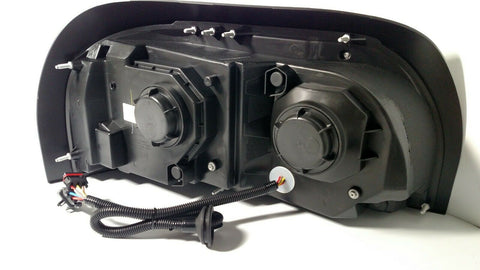 Image of Pair Blackout Headlights with LED Turn Signal & Light Bar for Freightliner Century - 6