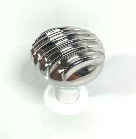 Finned Shift Knob - Show Quality Polished Aluminum (16mm x 1.5mm Thread) - 1