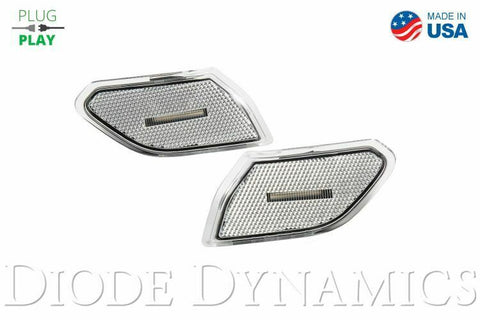 2018-2019 Jeep Wrangler & 2020 Gladiator LED Clear Lens Turn Signals - 1