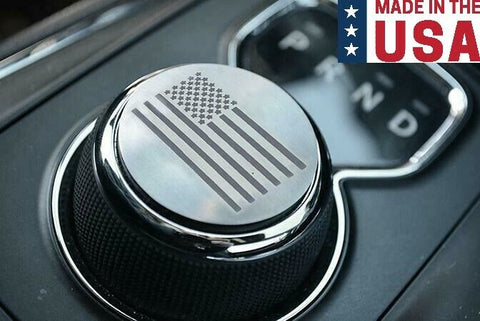 Image of US American Flag Dial Shift Knob Trim For 2015+ Dodge Vehicles