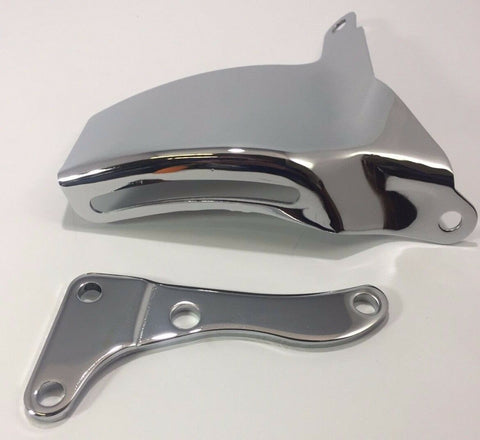 Image of Chrome SBC Alternator Bracket OE Style With Long Water Pump (283 305 327 350)
