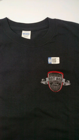 Image of Ford T-Shirt - Black w/ Ford Model A V8 Logo / Emblem - Hot Rod Car & Truck - 2