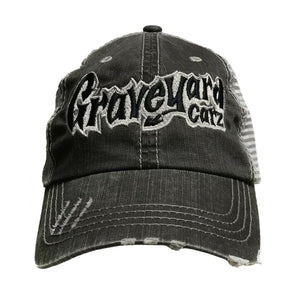 Graveyard Carz Trucker Hat - Gray Weathered / Distressed - Main