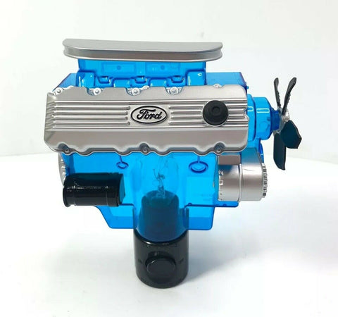 Ford Night Light - Blue w/ Gray & Black 427 SOHC Cammer Engine Replica - 4
