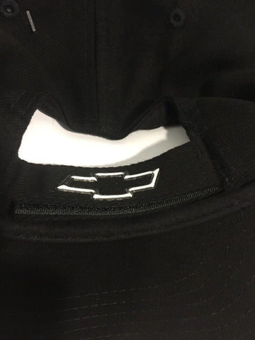 Chevy Corvette Hat - Black w/ Chrome Liquid Metal C5 Emblem - Back