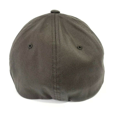 Image of 5th Generation Chevy Camaro Hat / Cap - Gray w/ Black Silhouette & Script Emblem - 3