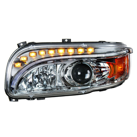Pair of Projection Headlights with LED Light Bar & Turn Signals for Peterbilt 388/389 - 6