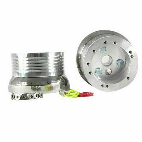 Polished 5/6 Hole Steering Wheel Hub Adapter for Volkswagen Models (E07)