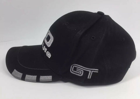 Ford Mustang Hat - Black w/ Gray 5.0 GT - Left