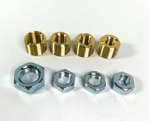 Image of Brass Shift Knob Adapter Kit 16mm x 1.5mm To US Standard Threads - 2