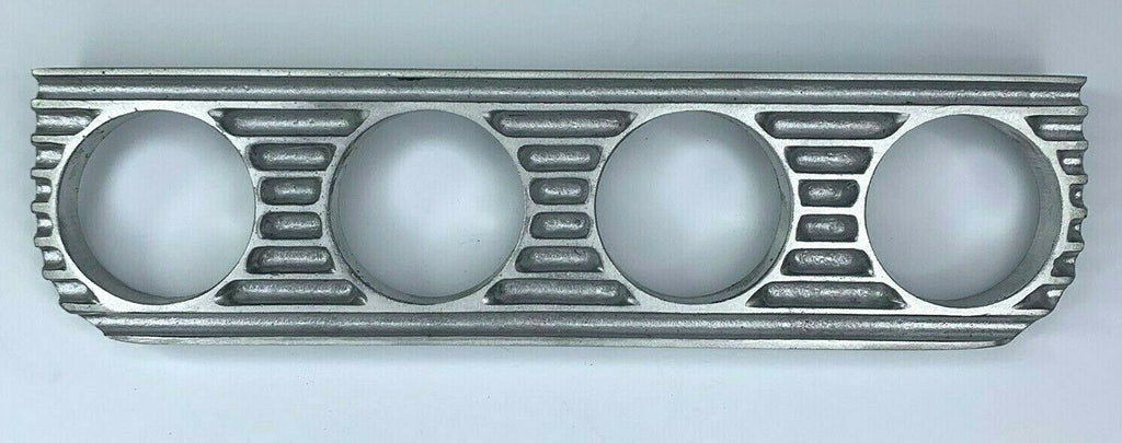 Finned Under Dash Quadruple Gauge Panel - Unpolished Cast Aluminum