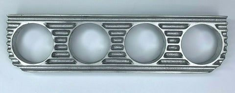 Image of Finned Under Dash Quadruple Gauge Panel - Unpolished Cast Aluminum