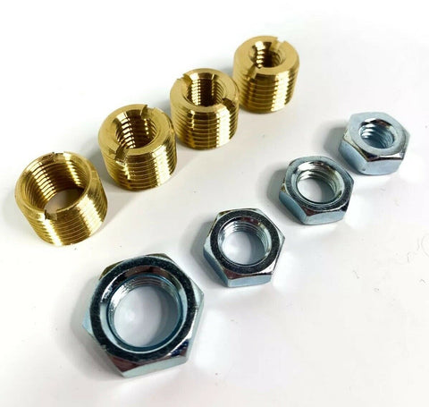 Image of Brass Shift Knob Adapter Kit 16mm x 1.5mm To US Standard Threads