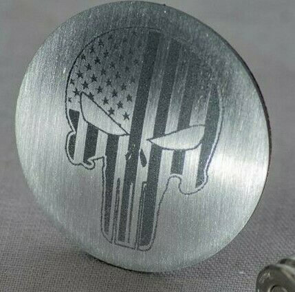 Image of Punisher Skull Dial Shift Knob Trim for 2015+ Dodge Vehicles - 1