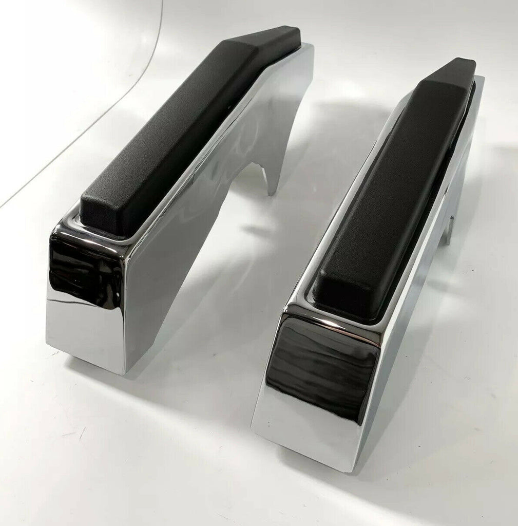 Pair of Chrome Front Bumper Guards For 1981-1987 Chevy & GMC Pickup Truck - 1
