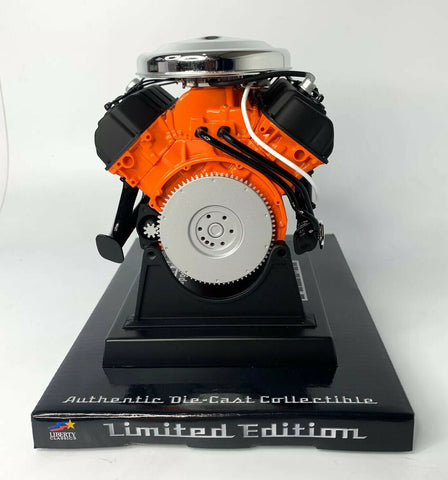 Model Engine 1:6 Scale Replica Diecast Of Orange Dodge HEMI 426 Motor - 6
