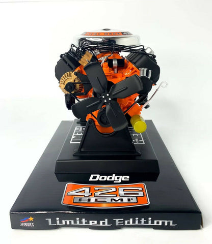 Model Engine 1:6 Scale Replica Diecast Of Orange Dodge HEMI 426 Motor - 2